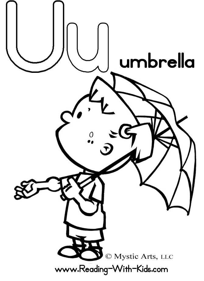Letter B Coloring Pages For Preschoolers : U colouring pages